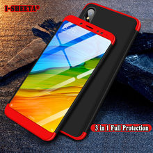 3 IN 1 Design For Xiaomi Redmi 5 Plus 5Plus Ultra Thin Matte Hard PC Back Cover For Xiaomi Redmi5 2017 360 Full Protection Case(China)