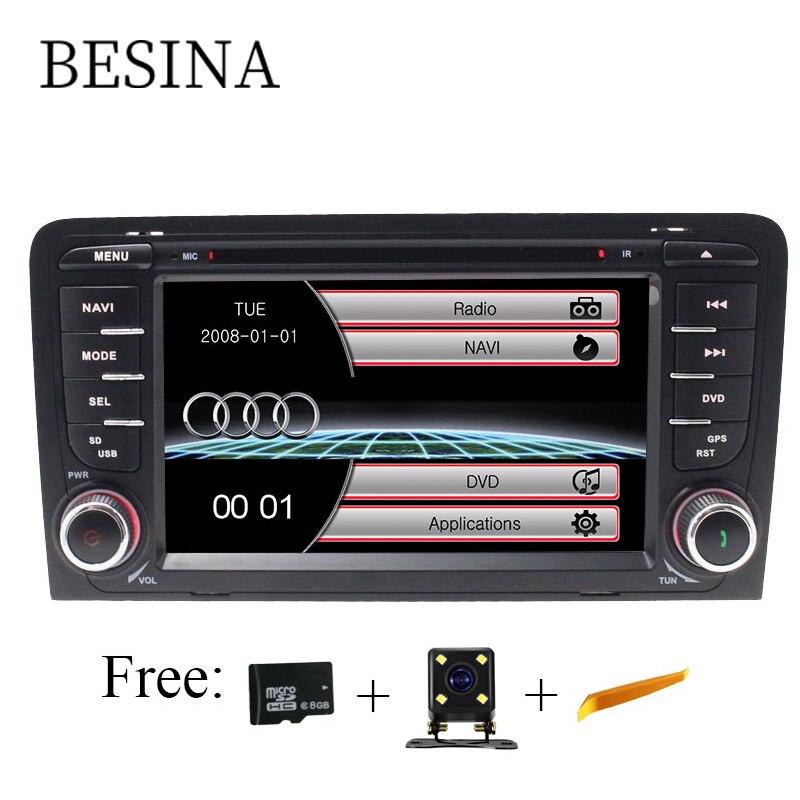 Besina 2 Din Voiture Lecteur DVD Pour AUDI A3 S3 2002-2011 GPS Navigation Multimédia Auto Radio Audio Vidéo stéréo Canbus Voiture radio SD