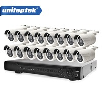 16CH 1080P AHD DVR H 264 1080P CCTV 16PCS HD 2MP Bullet Waterproof AHD Camera Sony