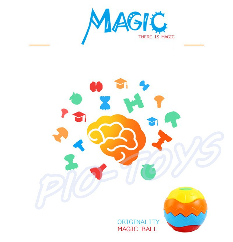 Hotsale Gift Baby Transformation Ball Magic Cubes Education Toys Puzzles Learning IQ Game For Kids Sport Children Building Model 13