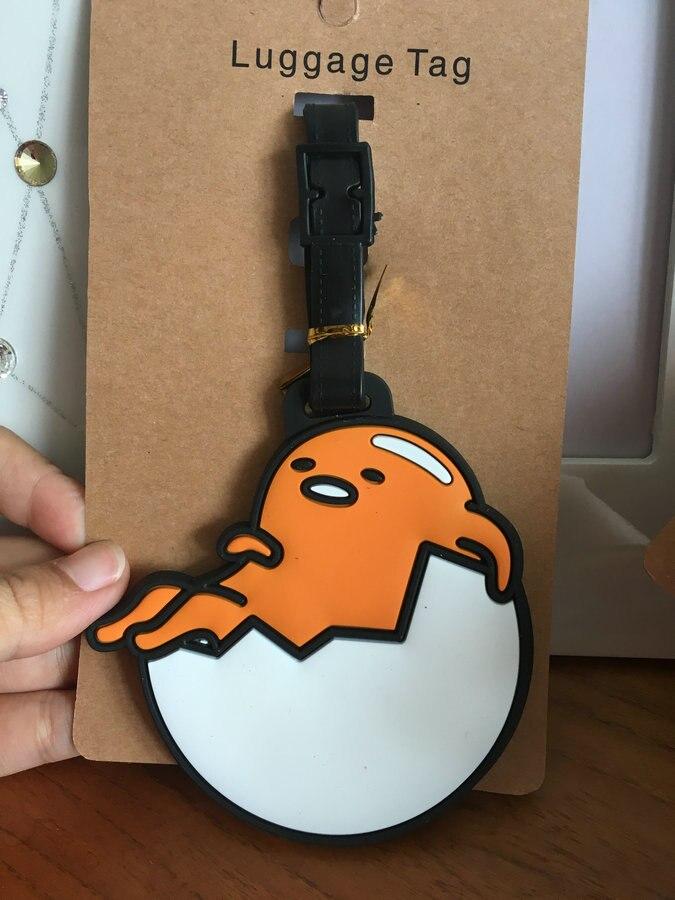 Gudetama Luggage Tag Popeye PVC Pendants Despicable Me Portable Travel Label Fujiya Co milk girl Suitcase ID Address Holder