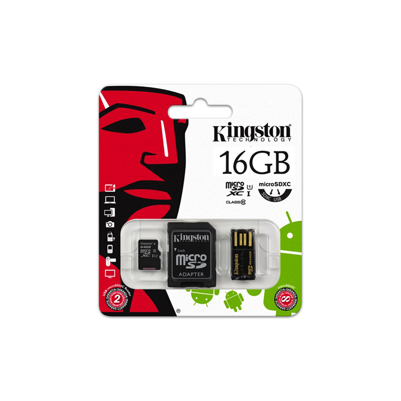 Image 3 - Kingston Technology MBLY10G2 Class 10 MicroSDHC 16GB 10 MB/s FCR MRG2 Micro SD USB 2.0 mini Flash adaptador 25 mm SD Card Reader-in Memory Cards from Computer & Office