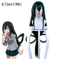 Coshome Boku No Hero Academia Asui Tsuyu Wig My Hero Academia Cosplay Costume Wigs 80cm Green