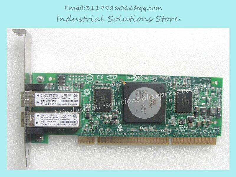 Original 4GB Qlogic Hba Card QLA2462 FC2410401 Multimode Fiber Channel Card 100% tested perfect лицензия qlogic lk 5802 4port8