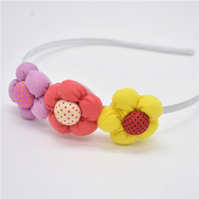 1-432  Pearl Flower Hair Accessories flower Hairbands beautiful hoop hair Princess band head of hair for girls headband hair 1pc Girls Accessories
