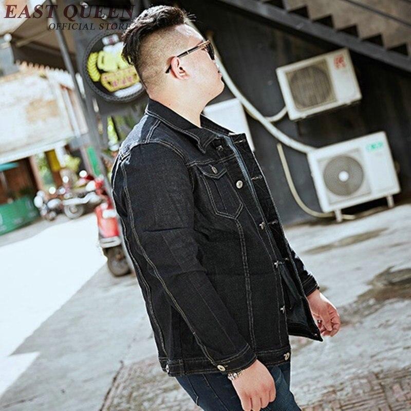 Джинсовая куртка для мужчин 2018 Осенние новые куртки модные джинсы пальто брендовая одежда мужская куртка бомбер Большие размеры KK1841 H - 5