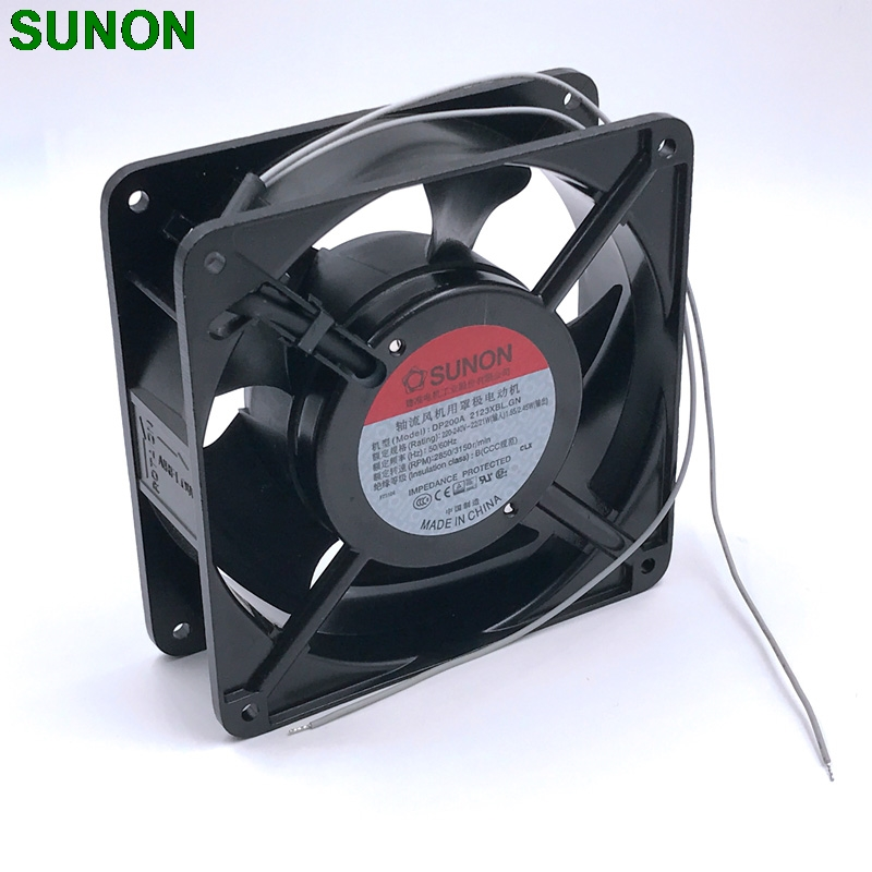 SUNON DP200A 2123XBL.GN cooling fan 12cm 220V 12CM 12038 120*120*38MM 220V wire type delta afb1212hhe 12038 12cm 120 120 38mm 4 line pwm intelligent temperature control 12v 0 7a