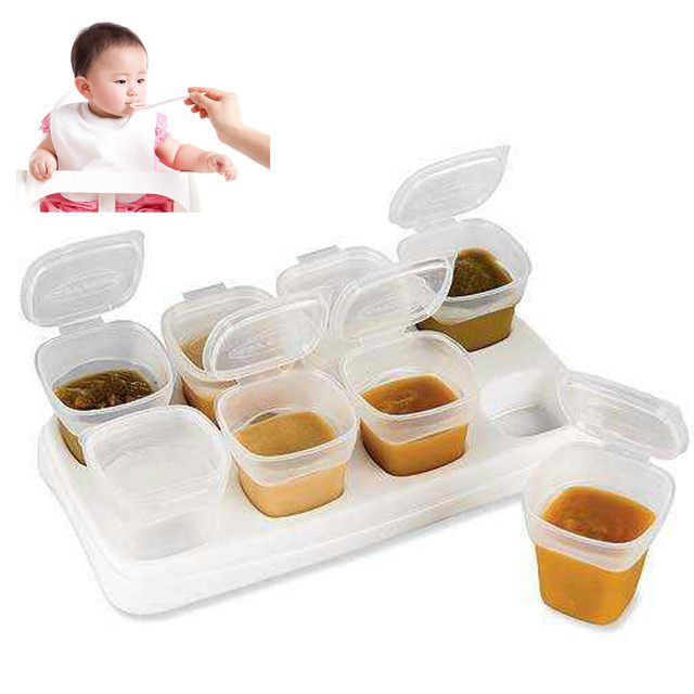 Freezer Storage Containers 8pcs BPA Free Baby Weaning Food Freezing