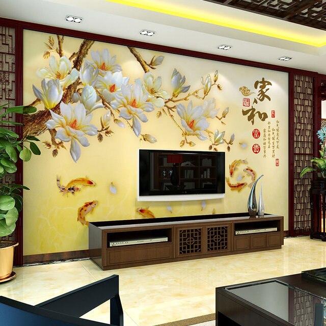 Online Shop Modern Flower Wall Murals Chinese Large Mural Wallpaper