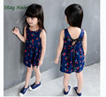 2-10years Baby Girl Dress  Floral Print Girls Dress Summer 2017 Costume Casual Clothes