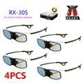4 pcs recarregável com clipe de óculos 3d do obturador ativo para míope para benq w1070 emissor optoma acer dlp 3d projetor óculos