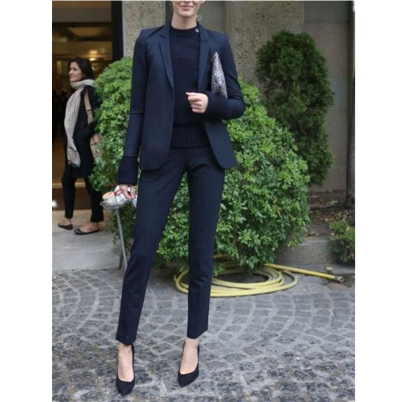 Veste Suit Picture As Notch Made Revers Pièce Custom Formelle 2 Femme Dames D'affaires Femmes Costumes Pantalon FnSwfPCP