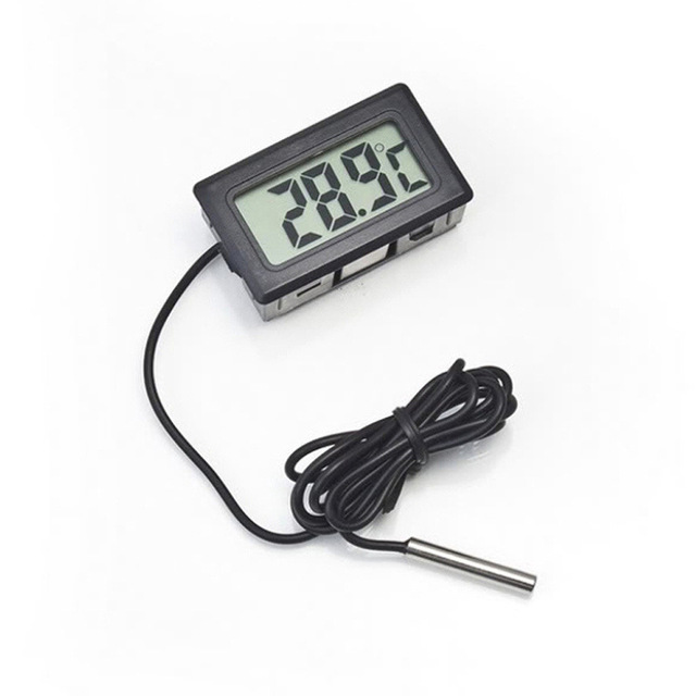 1 Piece Digital LCD Probe Fridge Freezer Thermometer Thermograph For Aquarium Refrigerator