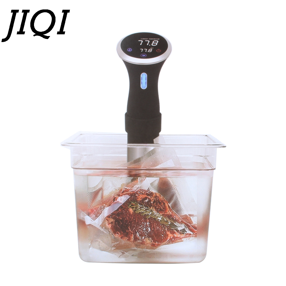 JIQI Food Sous-vide Precision cooker Low temperature slow cooking machine 1000w beef steak Vacuum processor 110V 220V EU US Plug the gourmet slow cooker