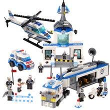 Ausini 23001 kits de edificio modelo de policía de la ciudad 623 bloques 3d modelo educativo y juguetes de construcción aficiones compatible con leping