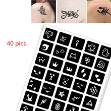 40 pics Henna Tattoo Stencils DIY Jagua Drawing Templates Airbrush Mehndi Body Art Small Flash Tatoo Stencil C11 pics