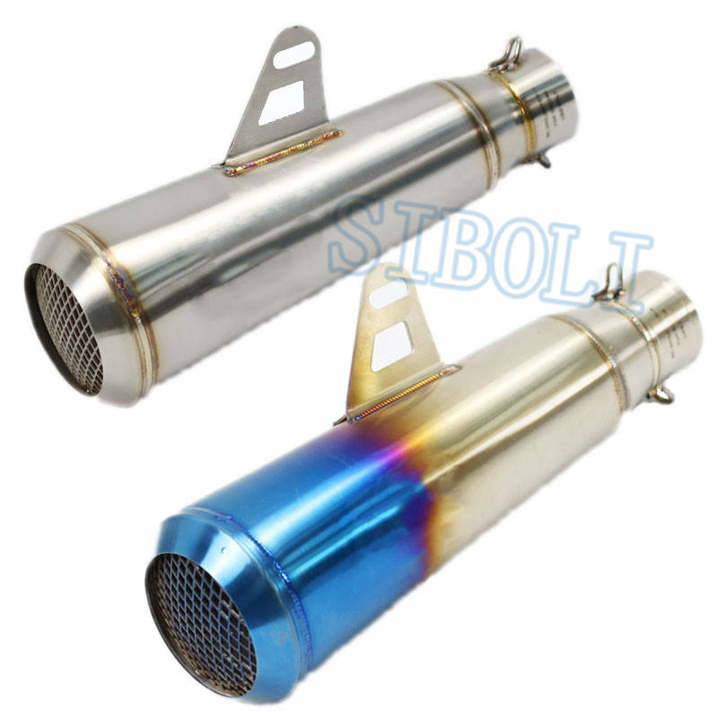NEW Laser Project 51MM Motorcycle Exhaust Muffler Pipe Stainless Steel Exhaust Escape Moto For HONDA FZ6 CBR R1 R3 R6 SC041
