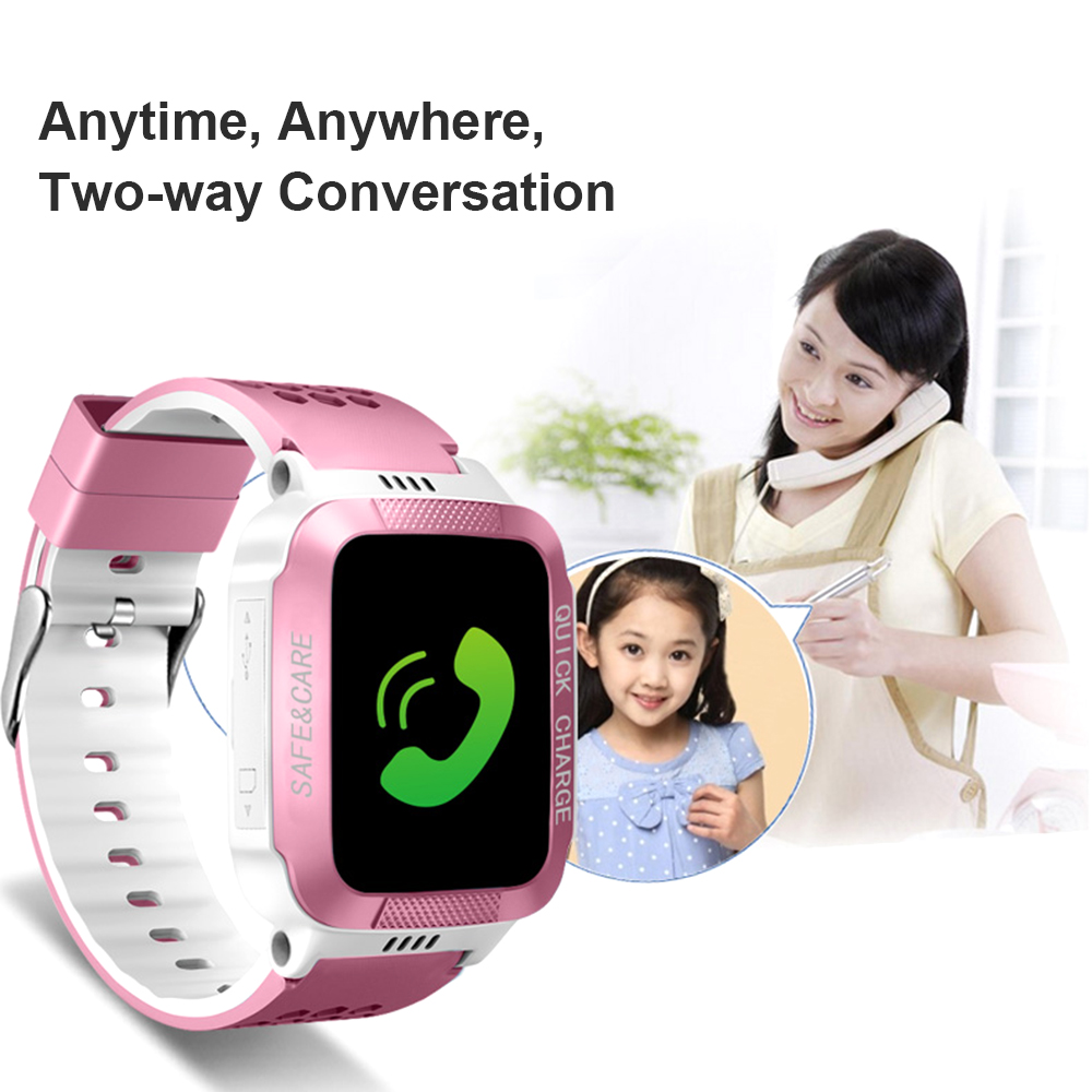Sos Smart Waterproof Wristwatch For Kids Security Anti-lost Remote Control Touch Screen Gps Tracker Sim Call Phone Wrist Watchs Pure White And Translucent Smart Watches