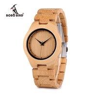 Precio BOBO pájaro amantes del bambú Relojes reloj de pulsera de cuarzo de banda de madera para los amantes
