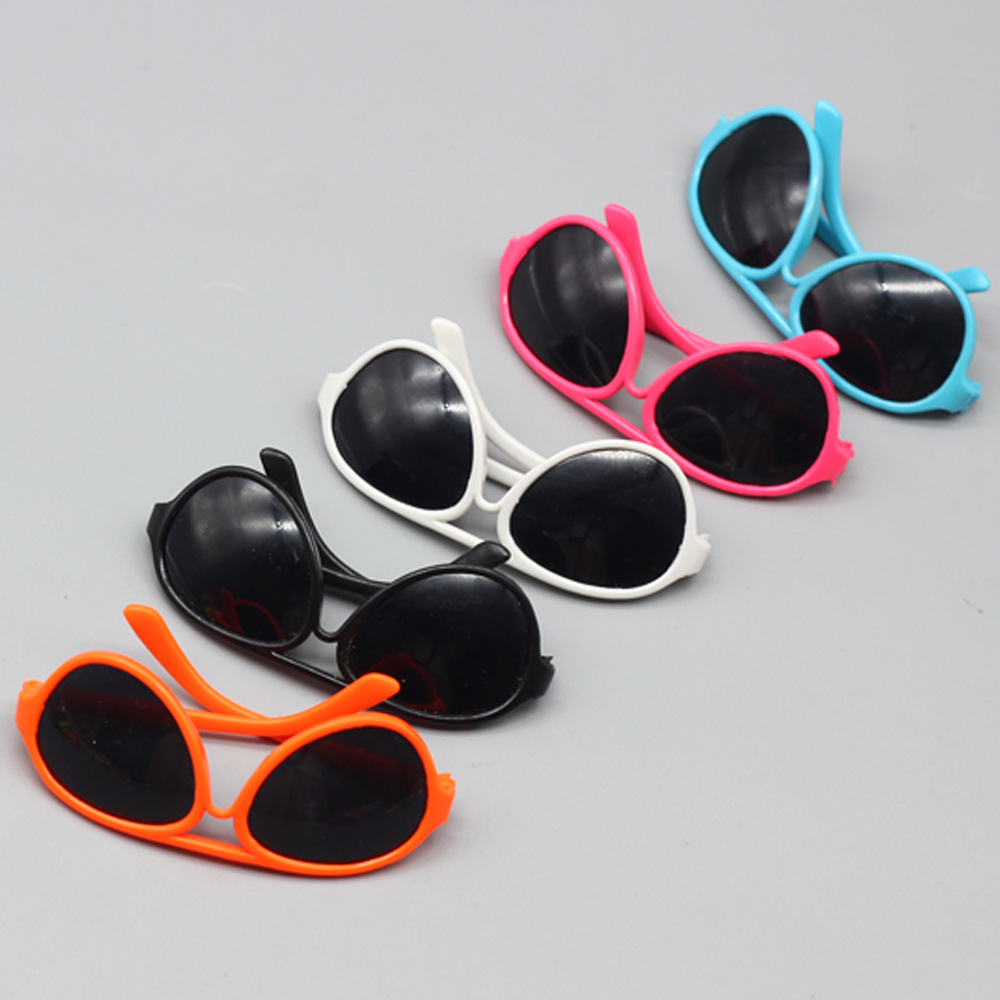 1pcs round-shaped Round glasses glasses suitable for 18 inch American girl doll as for BJD dolls Mini sunglasses