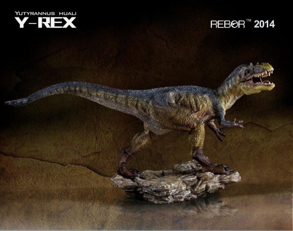 Rebor yutyrannus huali Y REX painted pvc 1/35 공룡 박물관 클래스 모델-에서액션 & 장난감 숫자부터 완구 & 취미 의  그룹 1