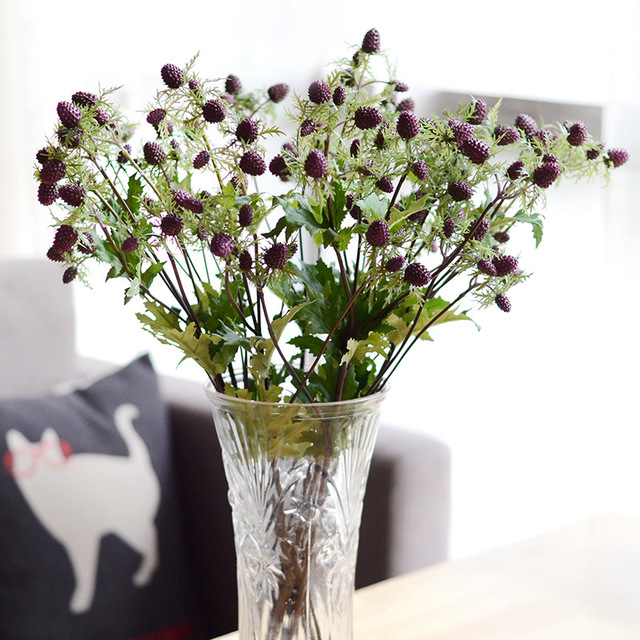 European Plastic Artificial Flowers Fake Plant Soft Silicone Mulberry Party Wedding Home Decorative
