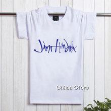 7a559905d4 Homens Camisetas New Impresso Letra Impressa 2018 t Camisa Da Banda de Rock Jimi  Hendrix Guitarras Top Verão de Manga Curta de A..