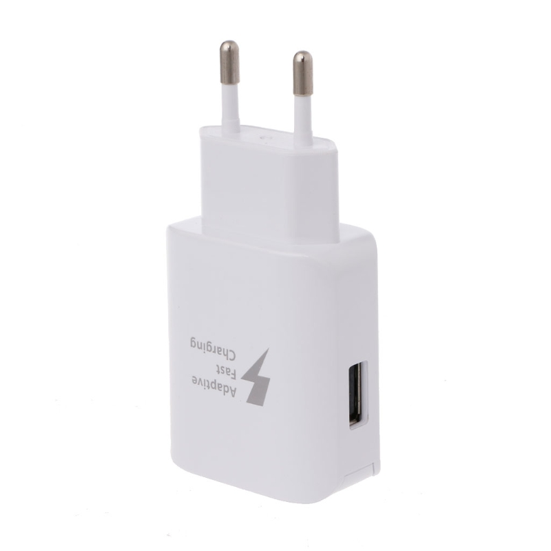 Adaptive Fast Charging USB Travel Wall Charger EUPlug For Samsung Galaxy S8