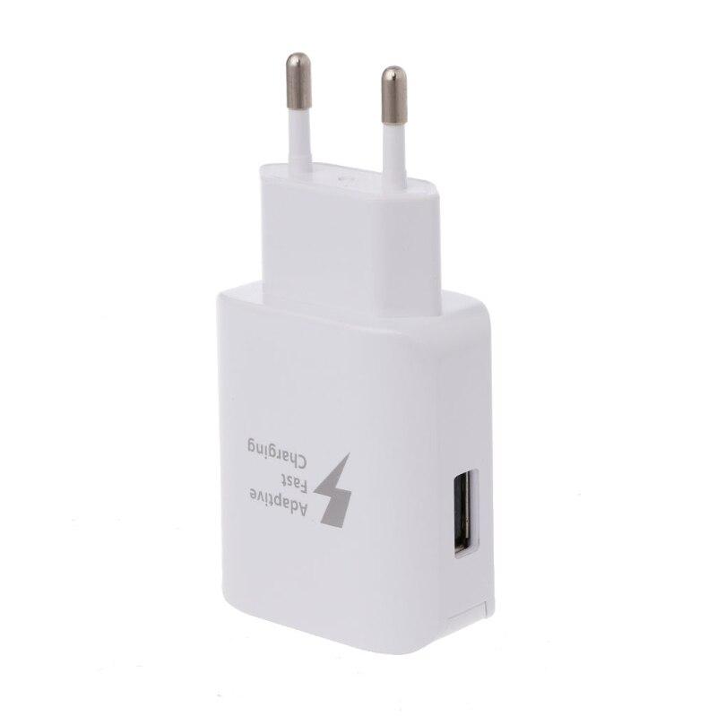 Adaptive Fast Charging USB Travel Wall Charger EUPlug For Samsung Galaxy S8