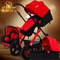 Two-way carrinho de criança dobrável suspensão carrinho de bebê carrinho de bebê recém-nascido ploughboys pinturicchio centenário 3 em 1 carrinho de criança Europeu