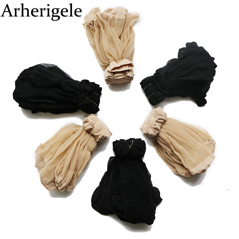 Arherigele 10pair Summer Sexy Ultrathin Women's   Socks   Transparent Invisible Short   Socks   Elastic Crystal Silk   Socks   Ankle   Sock