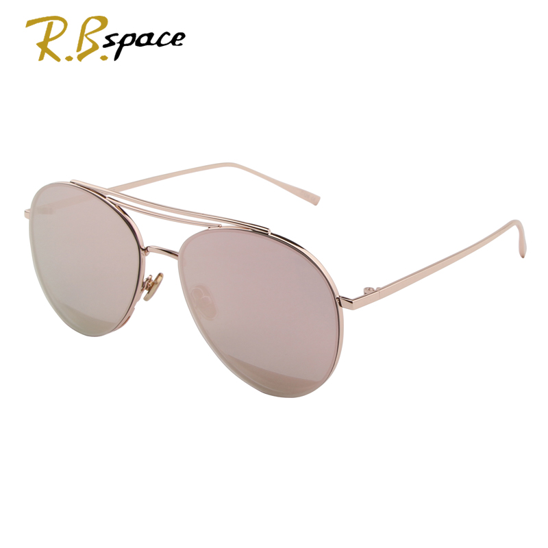 R.B.space new hot Vintage oval Sunglasses Women Luxury Brand Designer Female Sunglass fashion high quality metal sunglasses men ...