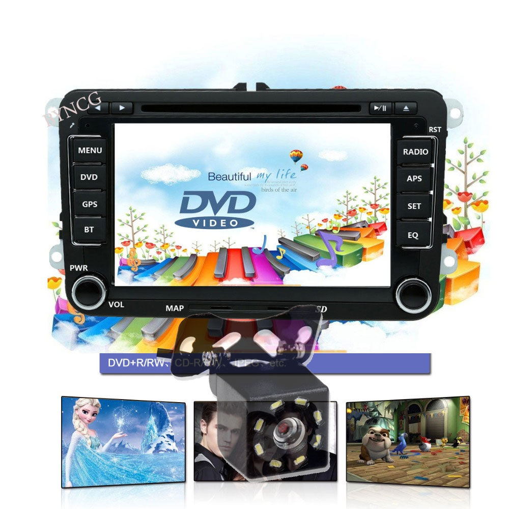 Car Multimedia player 2 Din Car DVD For VW Volkswagen Golf Polo Tiguan Passat b7 b6