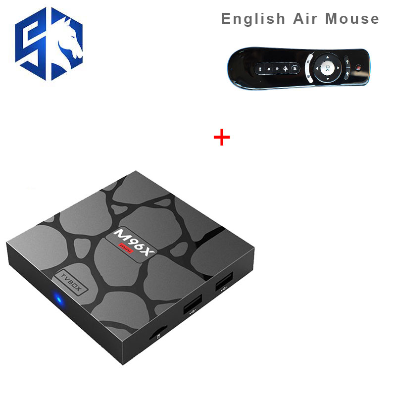 M96X Mini Smart Amlogic S905X Set Top Box Air Mouse 2g/16g hd 4 k 3D BT media Player Quad core 64bit 2.4/5g wifi Android TV Box