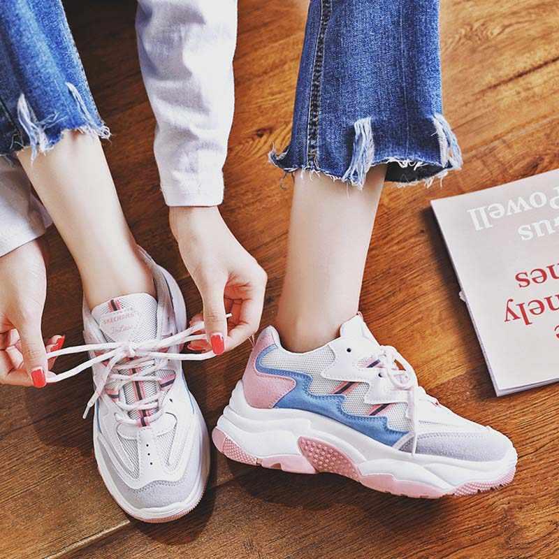 165cd337f VTOTA 2018 primavera Otoño de mujer de moda Zapatos casuales para mujer  zapatos vulcanizados zapatos transpirable salvaje de la Plataforma de las  ...