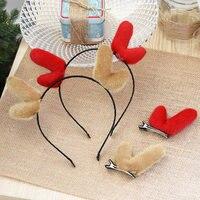 Corna d'alce bambini soffici corda dei capelli clip clip del cerchio bordo Principessa copricapo tornante decorazioni Di Natale