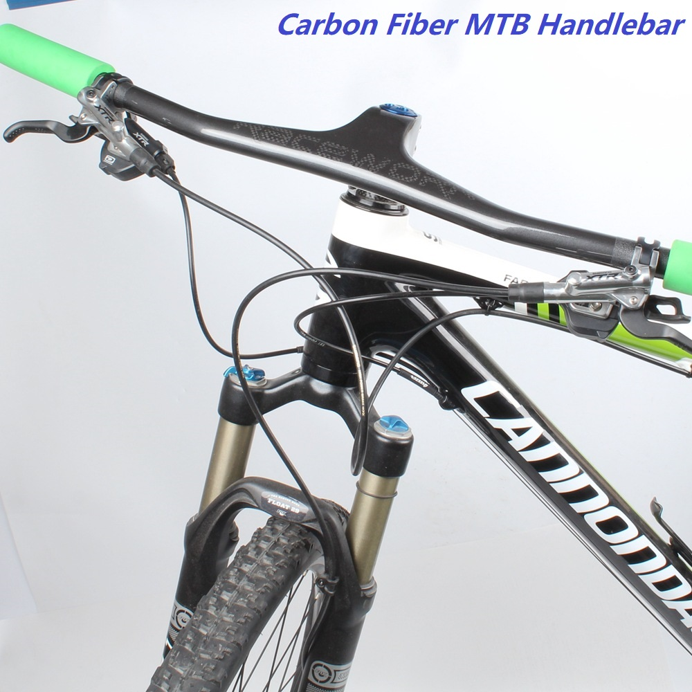 Carbon Fiber MTB Bicycle Handlebar One-shaped Integrated Handlebar With Stem UD Matte Carbon DH Mountain Bike HandlebarCarbon Fiber MTB Bicycle Handlebar One-shaped Integrated Handlebar With Stem UD Matte Carbon DH Mountain Bike Handlebar
