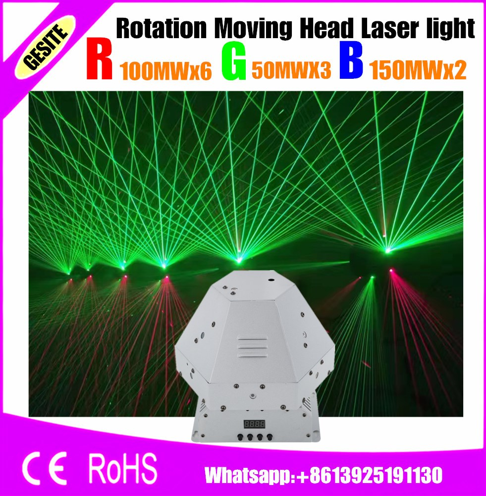 new LASER 1W RGB moving head laser light rotation moving rgb laser light for ktv bar disco party event stage light laser light new type co2 laser head