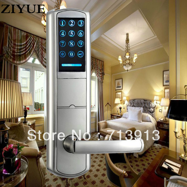 Electronic Smart home Intelligent LED  touch screen Keypad PIN code door lock    ET916pw Password / Mechanical Key/ Card Unlock dl1115 electronic lock numeric keypad code rf card mechanical key zinc alloy rust