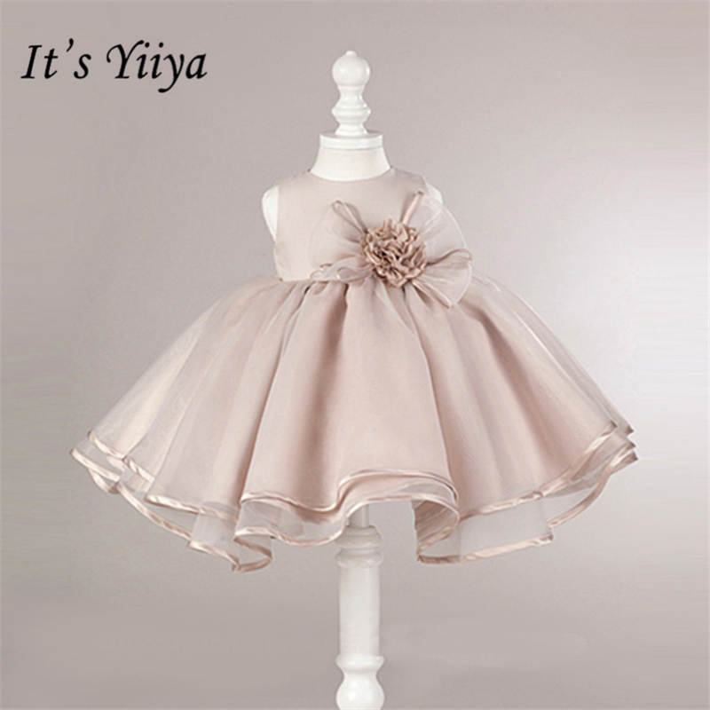 It's yiiya New O-neck Sleeveless Little   Flower     Girl     Dresses   Elegant Big Bow   Girl     Dress   Princess Ball Gown B003