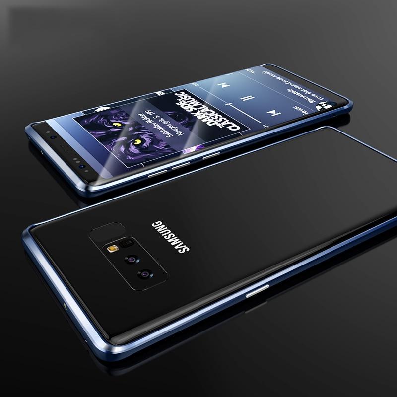 Original Metal Bumper Case For Samsung Galaxy Note 8 Luxury Ultra Thin Aluminum Hard Shockproof Case For Samsung Galaxy Note 8