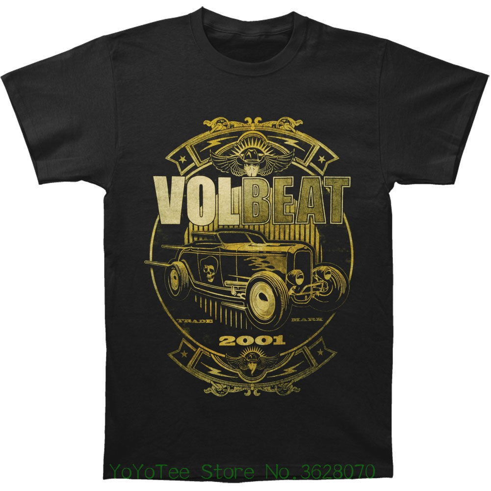 Summer Cotton T-shirt Fashion Volbeat Men&#039 ; S Custom Car Shop T-shirt Medium Black