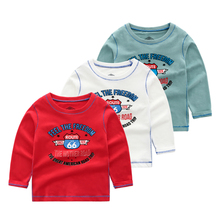 Autumn Boys Long Sleeve Tops Kids Tshirt Funny T Shirts Children Letter Youngster Tee Shirt Cotton Shirt 7-14year autumn spring velvet striped soccer letter print baby boys sweat shirt tee kids tshirt children fashion tops boys sweatshirt