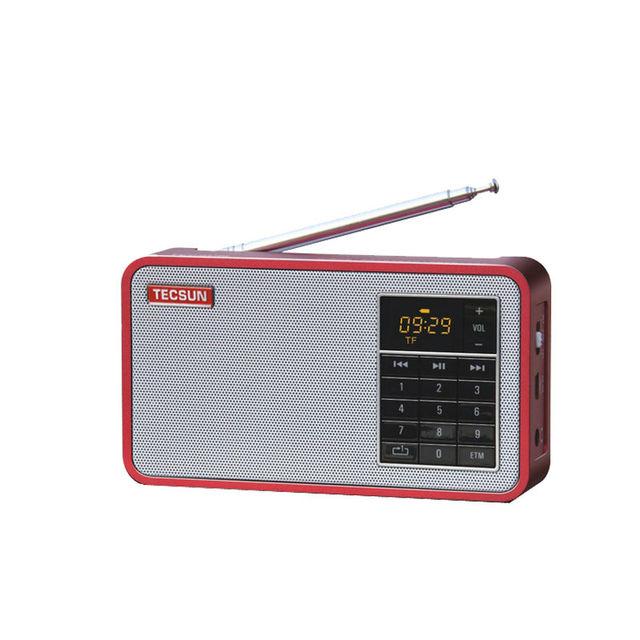 Envío gratis TECSUN X3 Radio FM Digital de Altavoces de Audio FM 64-108 Reproductor de MP3