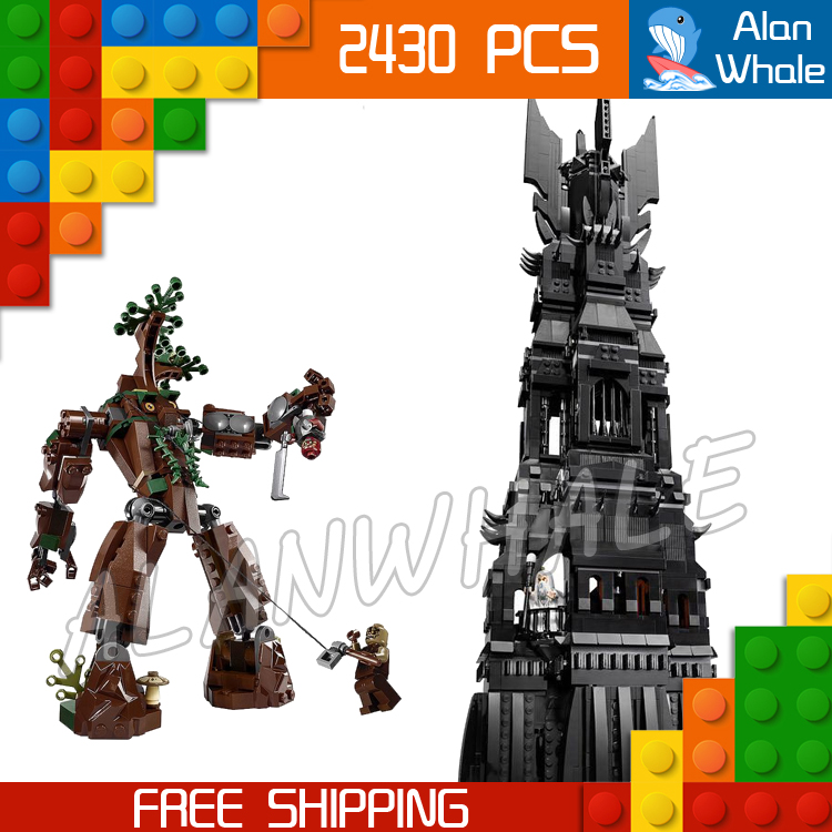 2430pcs 16010 Lord of the Rings Tower of Orthanc DIY Model Building Blocks unique Gifts Set Toys Compatible with Lego jonsbo lord of the rings mod screw set red