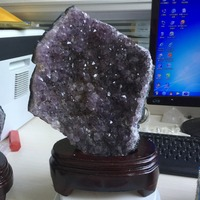AAA+ 1.6kg Natural Purply Crystal Products Amethyst Crystal Cluster Specimen feng shui gifts natural stones and minerals