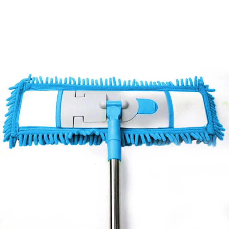 Łatwe pranie 1PC płaskie składane Mop płaskie szmaty wymienić tkanina z mikrofibry koral Chenille szmatka aksamitna 40x12 CM tkaniny ładowania głowy