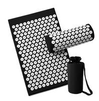 1 Set Massage Mat With Pillow Body Acupressure Massager Aid Relieve Stress And Pain Health Care Yoga Mat With Free Bag