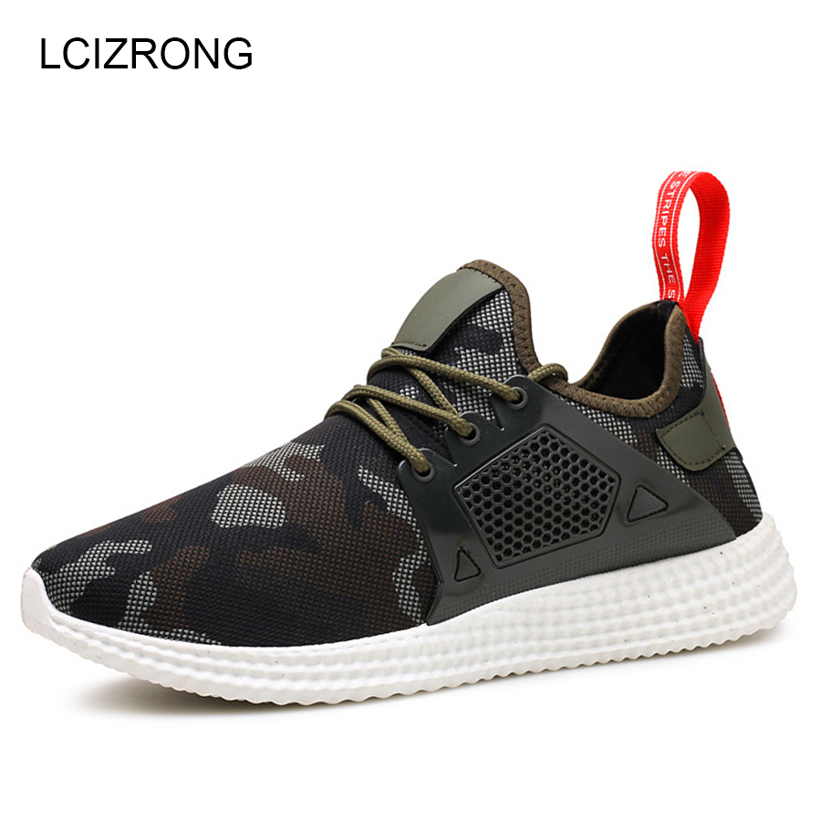 LCIZRONG 2018 Summer Camouflage Casual Shoes Men Mesh Breathable Soft Sneakers Non-slip Flat Shoes Footwear Spring Male