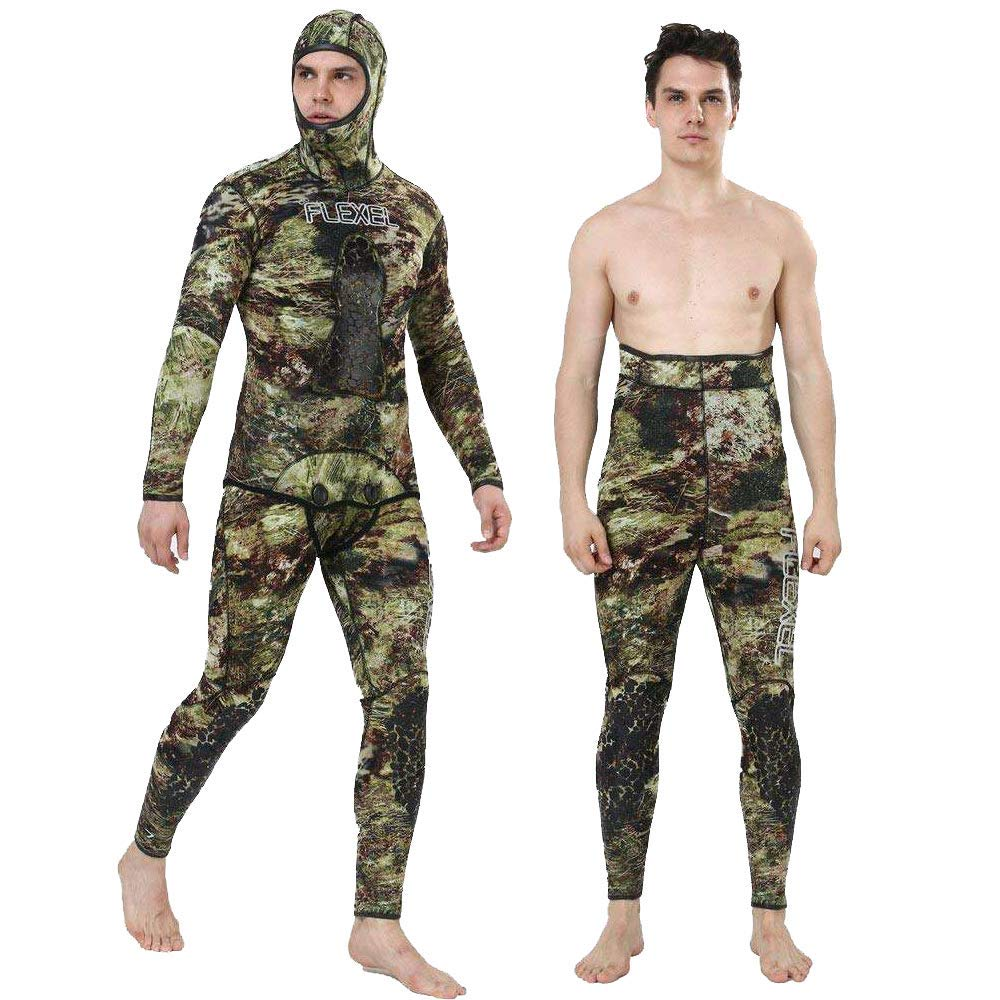 Realon Spearfishing Wetsuits Men 3mm Premium Neoprene 2-Pieces Hoodie for Scuba Diving Wetsuit FreedivingRealon Spearfishing Wetsuits Men 3mm Premium Neoprene 2-Pieces Hoodie for Scuba Diving Wetsuit Freediving
